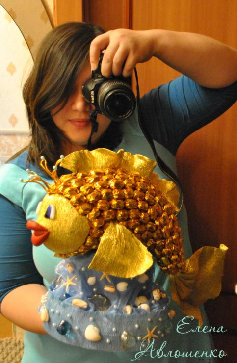 букеты из конфет рыбка фото - Фотосессия