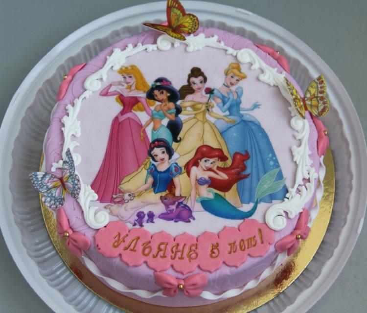 Торты с принцессами фото