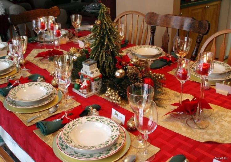 Новогодняя сервировка стола своими руками фото