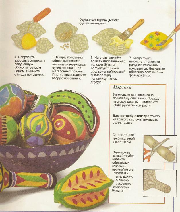 Как сделать овощи из папье-маше