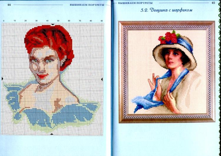 Схемы вышивок своих портретов 529