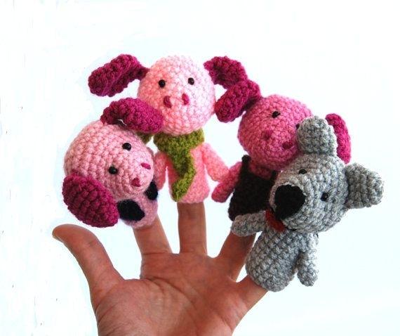 Игрушки на пальцы связать