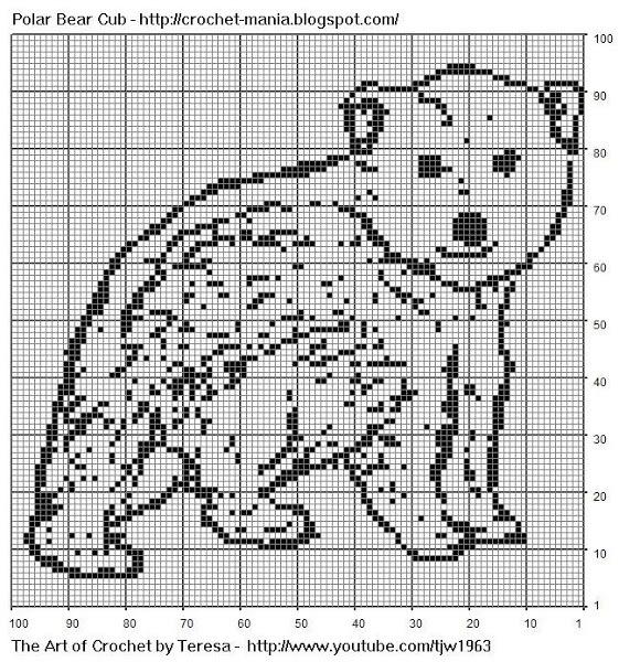 Схемы филейного вязания с рисунком животного для начинающих