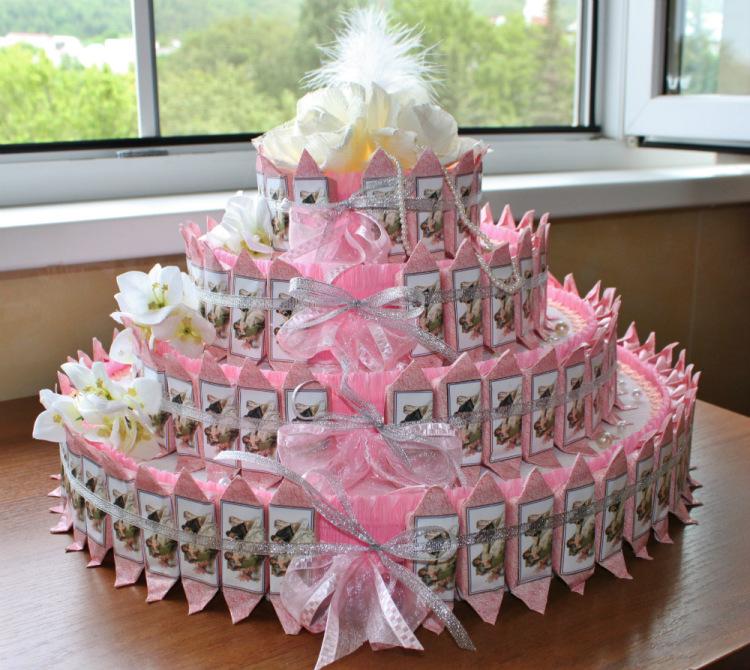 Торт из конфет для девушки
