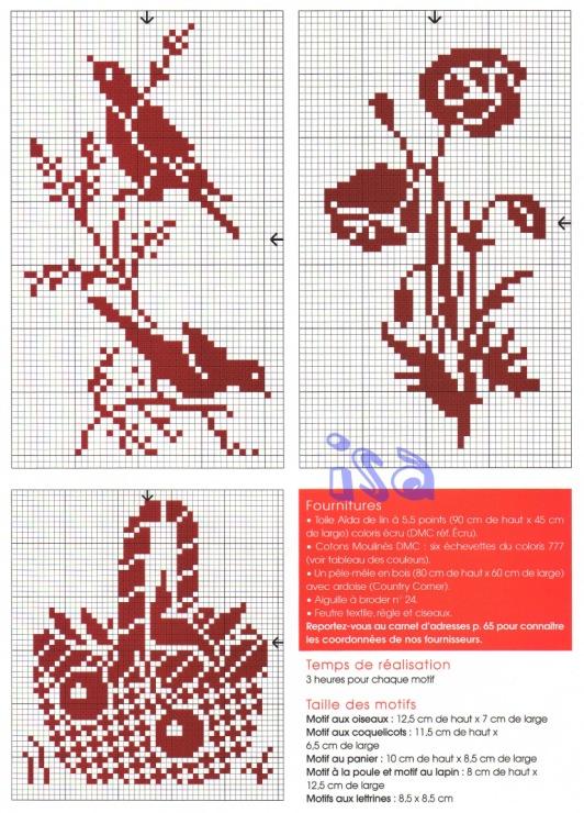 Схемы вышивкой монохром