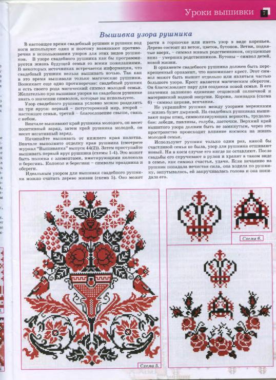Схема вышивки крестом для свадебного рушника под ноги 40
