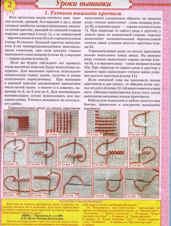 Инструкция по вышивке крестиком 280