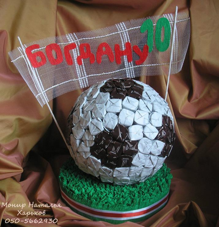 Мяч из конфет мастер класс с пошаговым