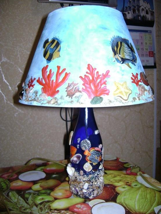 Лампа своими руками декупаж