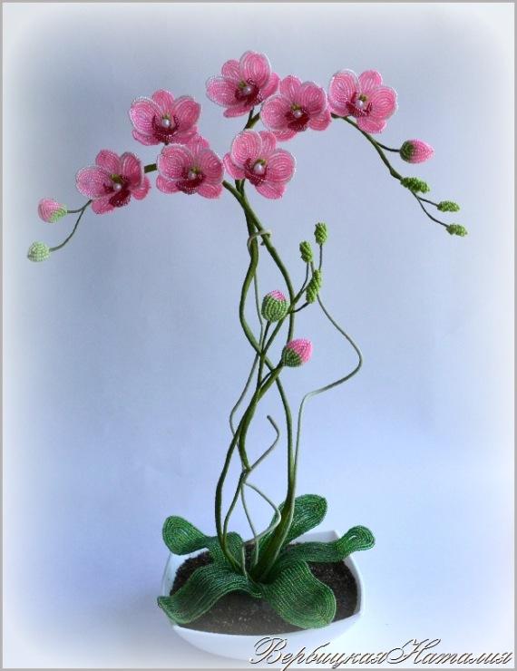 Как сделать орхидею из бисера фото