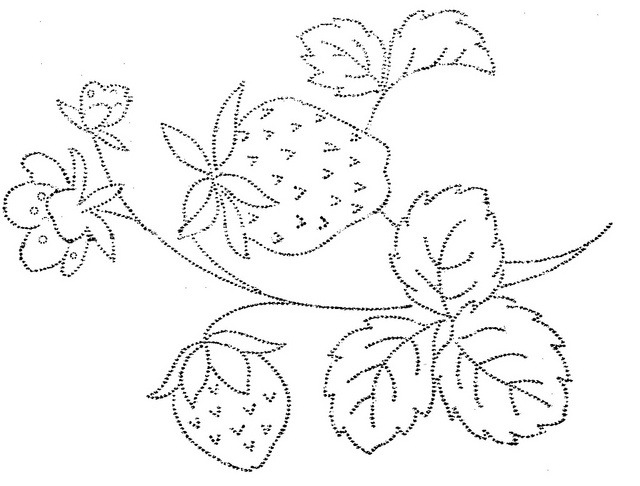 гладью схемы ягоды вышивки