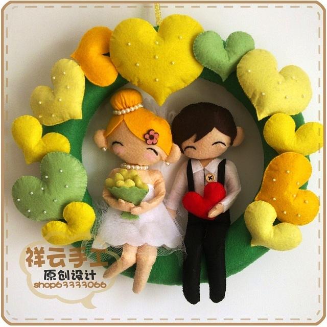 Подарок на свадьбу из фетра