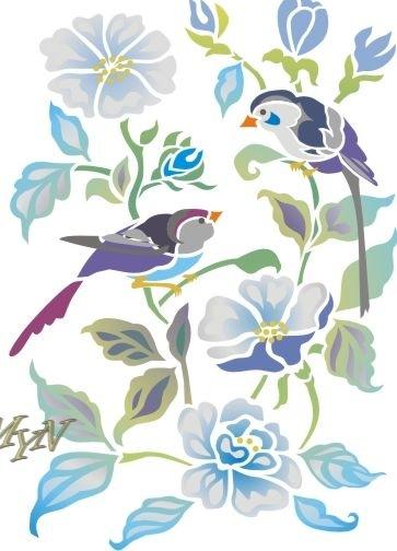 Вырезалки из бумаги цветы и птицы