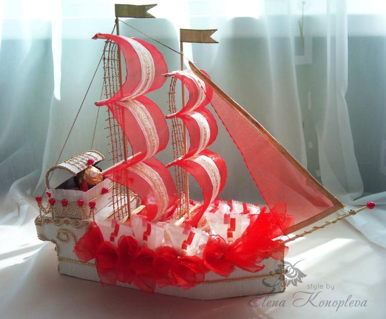 Кораблик подарок своими руками 20