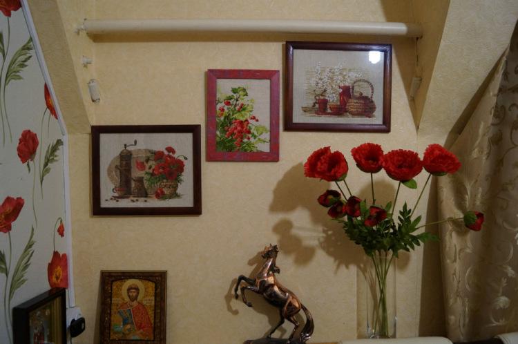 Вышивка в интерьере квартиры фото 48