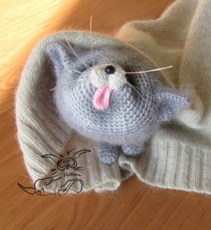Кот и кошка крючком фото