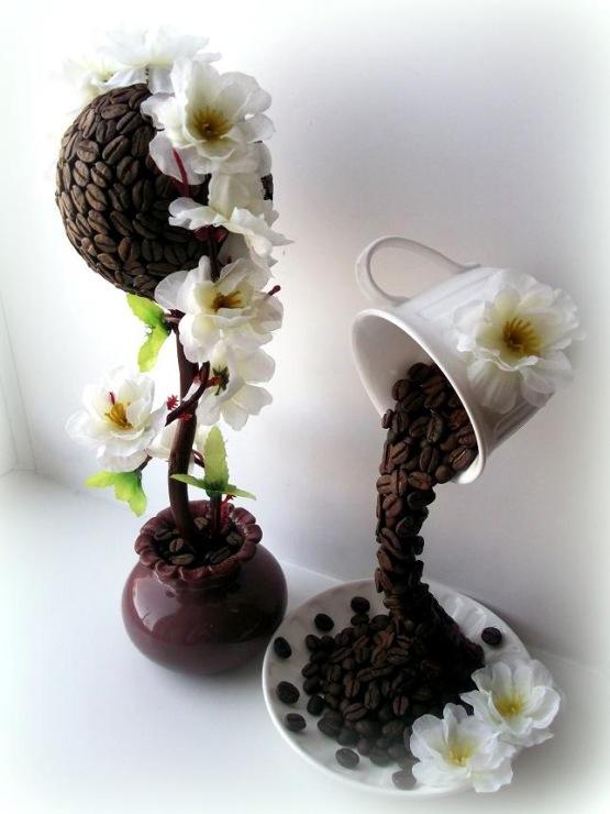 Цветы кофе своими руками