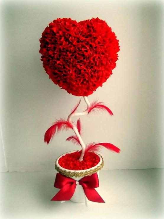 Цветы ко дню валентина своими руками 949