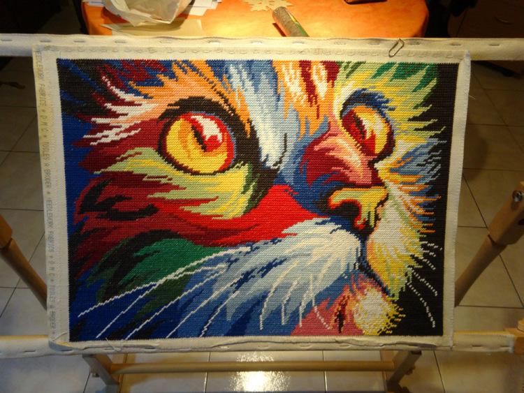Вышивка радужный кот схема 67