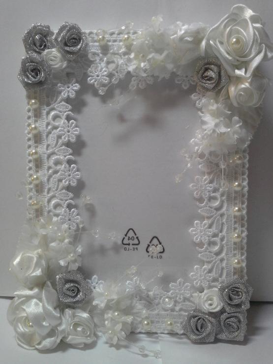 Декор свадебной рамки для фото своими руками 30