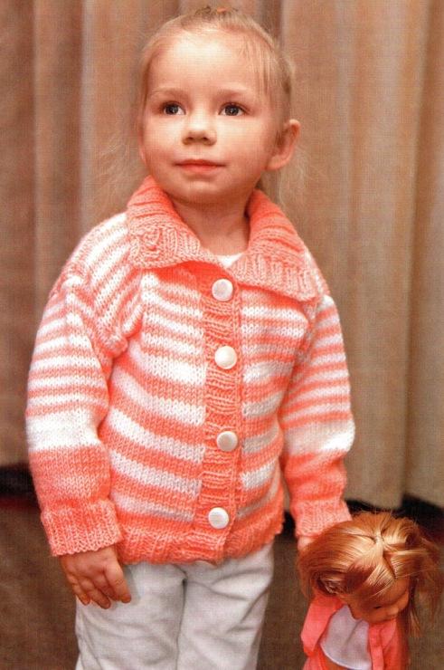 Вязание детской кофточки на девочку