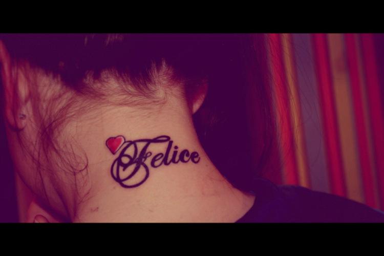 Татуировка с именем девушки фото